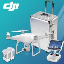 【现货】大疆DJI精灵4无人机 Phantom4专业航拍四轴飞行器 4K高清相机遥控飞 大疆精灵4无人机三电套装(+2块额外电池+拉杆铝箱