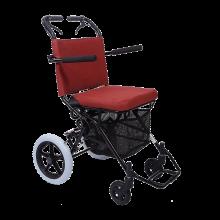 日本中进轮椅依赛哈专款可上飞机折叠轻便老人旅行旅游便携简易小轮手推车进口航钛铝合金老年人残疾人代步车