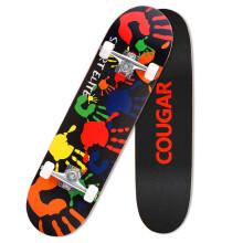 美洲狮(COUGAR) 双翘板滑板 成人儿童公路板MHB3108 彩色手印