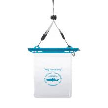 乐活MSquare 手机防水袋数码产品密封漂流袋游泳潜水袋 便携户外旅行用品 蓝扣透明袋