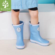 京东超市 kk树 kocotree儿童雨鞋男女童可爱童鞋雨靴防滑学生专用水鞋四季通用 KQ17676 蓝色 31