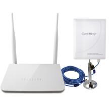 卡王(Card-king)KW-3021 挂卡路由器+300兆大功率无线网卡套餐 手机WIFI信号放大接收/发射/中继器