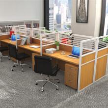 洛克菲勒 职员办公桌6人位办公桌椅组合屏风工作位对坐六人位