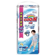 大王(GOO.N)短裤式 拉拉裤(男)特大号XXL34片(13-25kg)