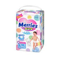 花王(Merries)婴儿拉拉裤 大号L44片(9-14kg)(日本原装进口)