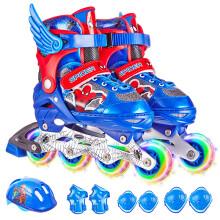 迪士尼(Disney)溜冰鞋儿童全套装轮滑鞋男女可调全闪光旱冰鞋滑冰鞋 蓝蜘蛛侠S码 (建议平时27-32码3-6岁)