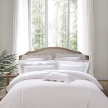 amain雅棉全棉四件套柔软宫廷风套件泡泡纱被罩欧式风格被套 普罗旺斯 粉红色 1.5米床适用