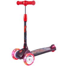 迪士尼(Disney)儿童滑板车1-2-6-12岁 三轮小孩滑滑车 可折叠升降闪光摇摆踏板车 009蜘蛛侠