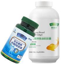 百合康牌鱼油软胶囊 深海鱼油 血脂高成人中老年人辅助降血脂 80粒 ×1瓶装