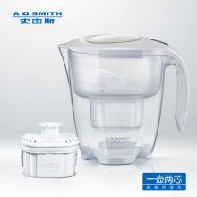 史密斯(A.O.SMITH) P35VAGW型重力式净水器 家用滤水壶 净水器 3.5L白色一壶二芯装