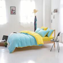 语桐家纺 床上四件套纯色双人单人学生被套三件套宿舍床品 彼岸花 1.5床适用(被套180*220cm)