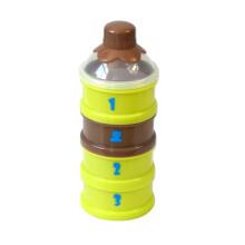 小白熊 四层独立奶粉盒 便携奶粉格 PP奶粉存储盒 09187