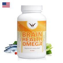美国安利(Amway)健康平衡鱼油软胶囊90粒A8914 护脑鱼油