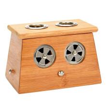 京东超市绿源堂 双孔竹制艾灸盒 随身灸木质灸盒家用艾条盒艾灸条工具全身熏盒适用无烟艾柱艾灸罐
