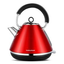 京东超市摩飞(Morphyrichards)电热水壶 进口304不锈钢烧水壶MR7076A 1.5L电水壶 红色