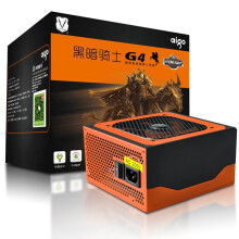 aigo 额定450W 黑暗骑士G4电源(额定450W/静音/主动式PFC/支持背线/质保3年)