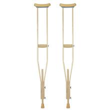 AUFU 佛山东方腋下拐杖环保材料木头助行器瘸子单腿拐杖成人小号儿童型号轻便小孩使用 两支装 小号