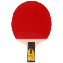 双鱼乒乓球拍单只6星双面反胶直拍6A-E 五层厚芯乒乓球拍底板 健身器材家用运动减肥器材瘦身体育用品