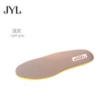 适用特步运动鞋垫男女加厚减震透气跑步篮球羽毛球运动鞋垫 浅灰色 38