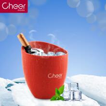 Cheer启尔红酒冰桶 香槟桶啤酒桶冰块桶 餐饮酒吧冰桶快速降温冰酒壶 红色BT01