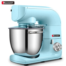 海氏(Hauswirt )厨师机家用和面机铸铝机身揉面机HM775 蓝色5.5L