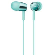 索尼(SONY)MDREX150AP 入耳式立体声通话耳机 薄荷冰蓝色