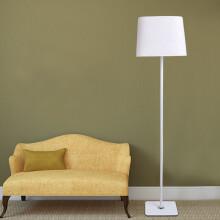 道远亮眼睛 LED落地灯5W暖光 客厅卧室床头灯宜家创意简约布艺落地台灯ML-111白199.00