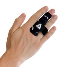 京东超市 AQ护指篮球排球护指关节护指套运动装备加压进阶护手指护具黑色B30921L/XL 强化护指 S/M