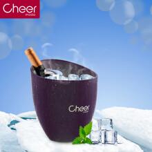 Cheer启尔红酒冰桶 香槟桶啤酒桶冰块桶 餐饮酒吧冰桶快速降温冰酒壶 紫色BT01