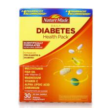 天维美(Nature Made)糖尿健康营养包30包 辅助血糖 复合维生素鱼油 糖尿健康包1盒