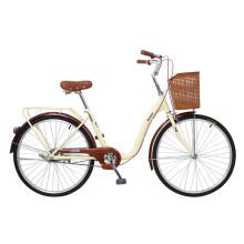 凤凰Phoenix城市车男女式通用型通勤车自行车女双鱼座 24寸变速 米色
