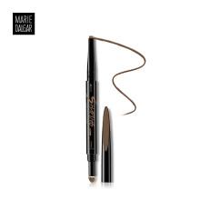 玛丽黛佳(MARIE DALGAR) 眉笔 塑型双效画眉笔BR-2卡其棕 0.15g+0.15g(眉粉 防水防汗 不脱色 扁头双头)