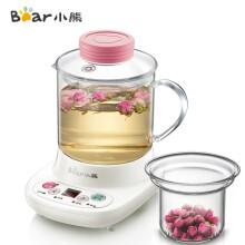 【专享】小熊(Bear)迷你养生壶自动加厚玻璃电热杯煮花茶壶 玻璃滤网 YSH-A03C5 0.4L
