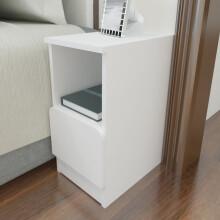 美宜德曼 床头柜 25CM厘米窄床头柜 简约抽屉式小床头柜 圆角床边柜