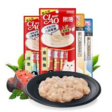 京东超市伊纳宝(INABA)猫零食 妙好啾噜 流质湿粮包猫罐头流质肉条罐头猫条 金枪鱼14g*16支