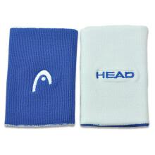 HEAD/海德 新款网球运动护腕男女5��(两个装)双面双色 白宝蓝