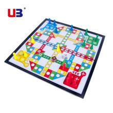 京东超市 友邦(UB)国际象棋 磁性折叠圆角款棋盘 黑白象棋套装 入门教学培训 4852C(大号) 飞行棋