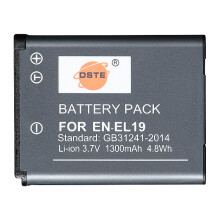 蒂森特(dste)尼康 EN-EL19 COOLPIX S100 S2500 相机电池 备电