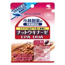 小林制药纳豆激酶酵素日本进口调节三高降血脂深海鱼油卵磷脂好搭档 蓝莓护眼素 EPA DHA 亚麻酸 纳豆激酶酵素 1袋(30粒)
