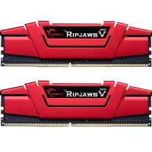 芝奇(G.SKILL) Ripjaws V系列 DDR4 3000频率 32GB(16G×2)套装 台式机内存(法拉利红)