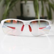 拓步MG006 NXT3代变色镀膜男女骑行眼镜 防风沙运动自行车眼镜装备 户外运动眼镜护目镜太阳镜 晶钻白+红膜