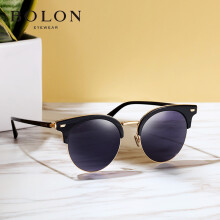 暴龙经典太阳镜 BOLON BL6026C10 复古偏光太阳眼镜 女款墨镜