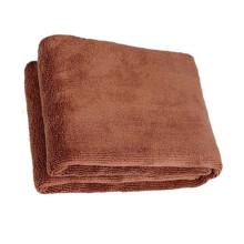 那卡超细纤维毛巾方巾 美容巾 洗车毛巾 洗车巾擦车巾手帕 经编300克重/�O 25*25咖啡(20g)