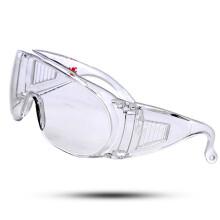 3M 1611风镜护目镜摩托汽车司机防风 防尘防沙 防辐射 防护眼镜 访客用可佩带近视镜 1副