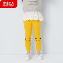 南极人 Nanjiren 儿童裤子女童打底裤2019新款春秋小女孩婴儿外穿童裤  粉红小猫-姜黄 80