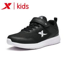 特步童鞋 儿童运动鞋秋季新款跑鞋男童运动鞋网鞋透气男童鞋子 681115119182 黑白 35