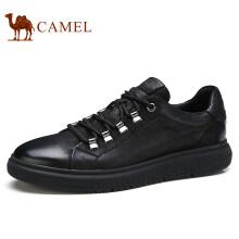 骆驼(CAMEL) 韩版潮流百搭时尚男士休闲板鞋 A732168240 黑色 40