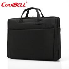 COOL BELL电脑包17.3英寸戴尔外星人防震单肩包15.6寸笔记本手提包0107 黑色 17.3英寸电脑专用