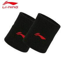 李宁 LI-NING 男女篮球羽毛球保暖运动护腕健身护腕198-1黑色(2只装)