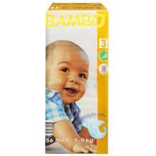 班博(BAMBO)绿色生态 婴儿纸尿裤 3号 (5-9公斤) 56片 M码  丹麦原装